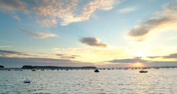 Rumsey-Holiday-Homes-Brownsea-Island-at-Evening