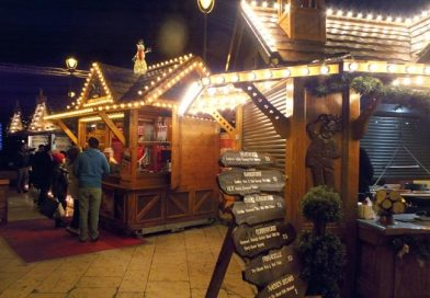 Christmas Market and Alpine Bar, Bournemouth Town Centre
