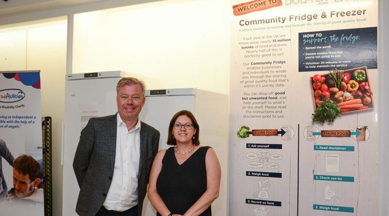 Community fridges installed in the Dolphin Shopping Centre's Eco Hub