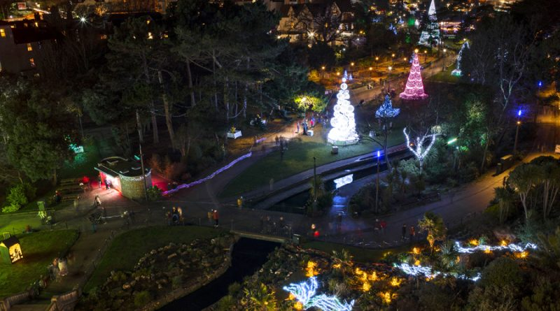 Aerial Shot Bournemouth Christmas Tree Wonderland trail