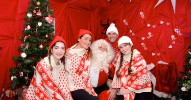 Santa and his elves at the Dolphin Shopping Centre