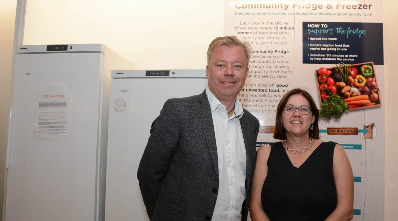 John Grinnell and Lisa King in the Dolphin Shopping Centre's Eco Hub