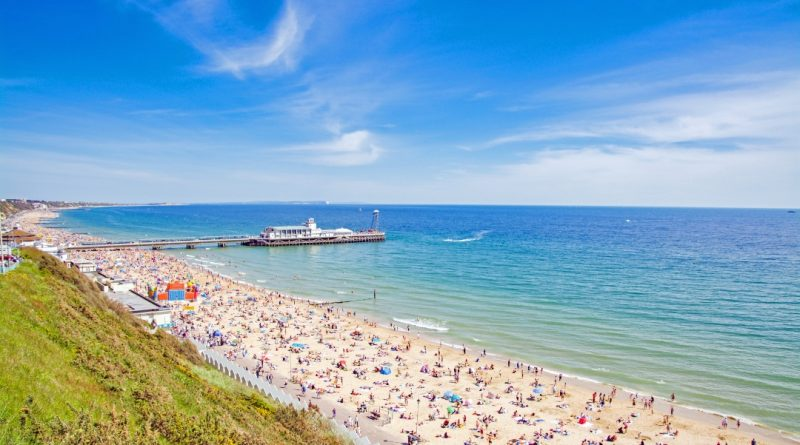 view from west cliff summer Bournemouth copyright BCP Tourism